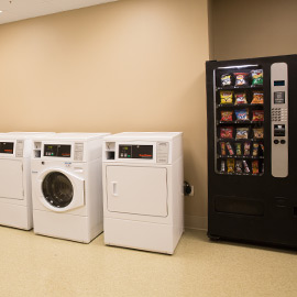 Facility laundry and vending area